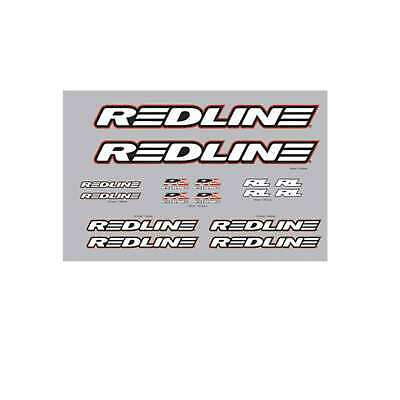 old school bmx decals stickers redline forklifter stem red rub on