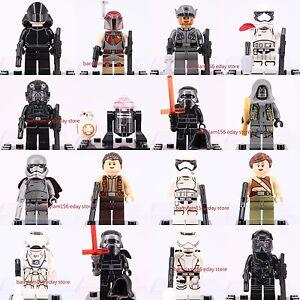 18pcs Star Wars 7 The Force Awake Kylo Ren BB-8 Mini Figure &  Brick 3002