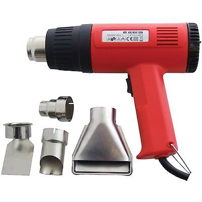 2000W Hot Air Heat Gun Dual Temperature Paint Stripper DIY Tool + 4 Nozzle 230v