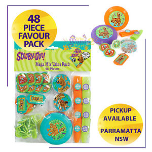SCOOBY DOO BIRTHDAY PARTY SUPPLIES 48 PIECE TREAT FAVOURS PACK TOYS
