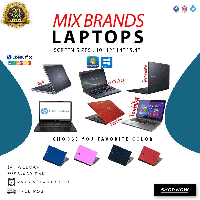 Laptop Windows - CHEAP LAPTOP CORE 2 DUO/DUALCORE/PENTIUM 4GB RAM DIFFERENT HARD DISK WEBCAM WIFI