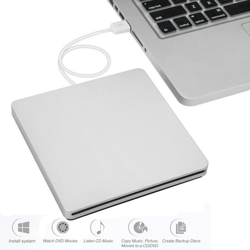 For Apple Macbook Pro Air MAC PC Laptop External Slot-in USB CD DVD Drive Burner