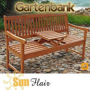 GARTENBANK mit KLAPPTISCH BANK mit TISCH GARTENMÖBEL HOLZ - indoba® - Sun Flair