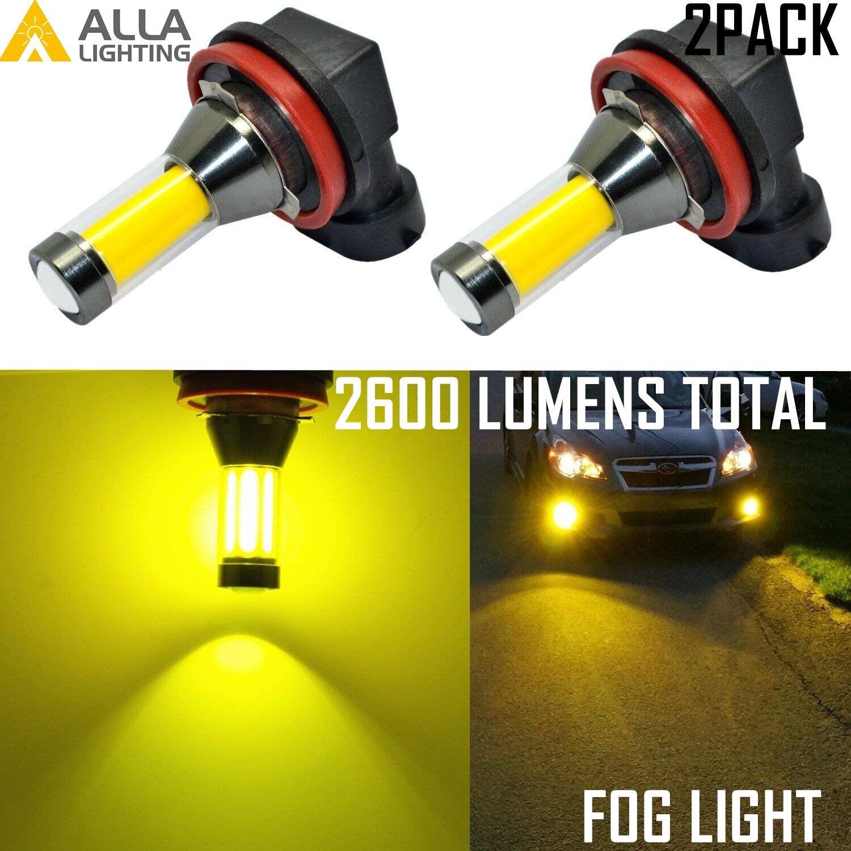 Alla Lighting LED H8 H8LL YELLOW Cornering Light|Fog Light Bulb,Golden Yellow