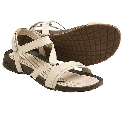 NEW TEVA 6.5 SANDAL FLIP FLOPS SHOES Leather Tan Cabrillo Crossover $80 Retail