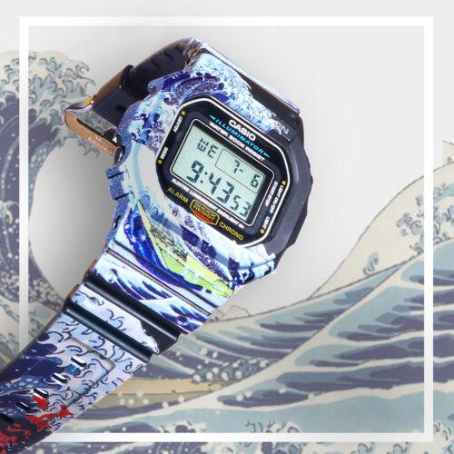 Wave of Kanagawa Custom Design on Authentic Resin G-Shock Watch