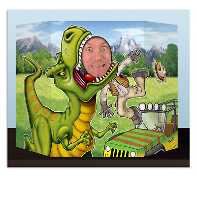 Dinosaur Birthday Decorations (DINOSAUR PHOTO PROP DINO T REX birthday party FUN!! JURASSIC PARK jungle)