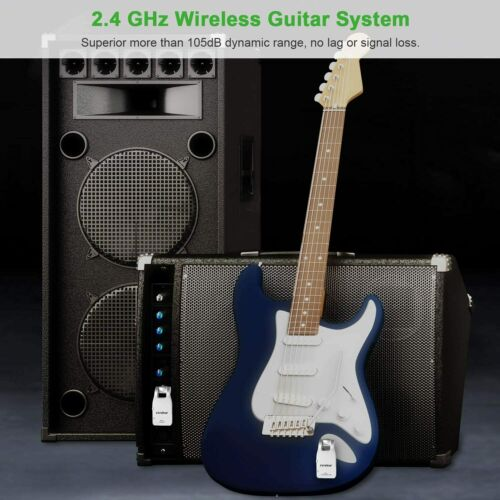 Wireless Guitar System, Rechargeable Guitar Transmitter 15/9-2