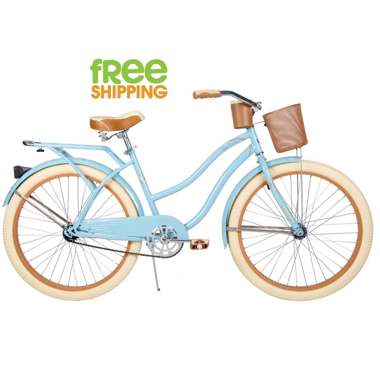 "Huffy Cruiser Bike 26"" Women Beach City Commuter Bicycle Blue Rear Rack New!"