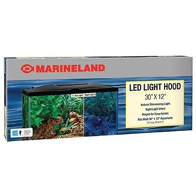 Marineland Fish Aquarium LED Light Hood for Tank 30 X 12 Inches Reptile Habitat
