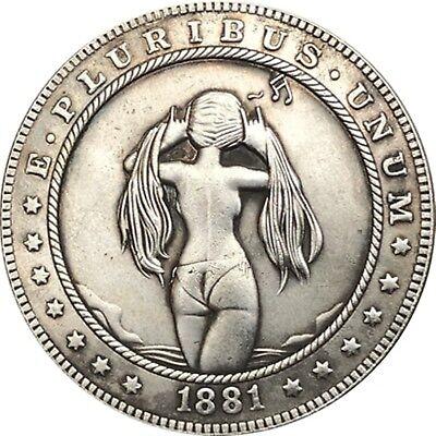 Hobo Nickel  1881-CC USA Morgan Dollar Long Hair COIN