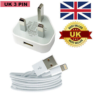 100% Genuine CE Charger Plug USB Sync Cable For Apple iPhone 8 7 6 5 Plus X iPad