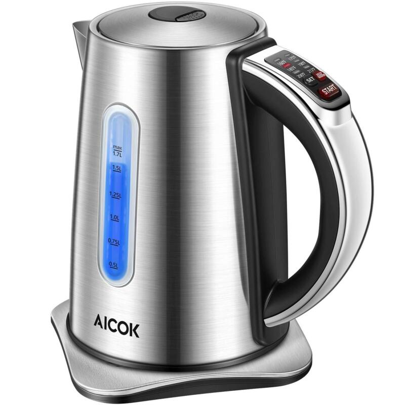 Aicok Electric Kettle Temp Electric Tea Kettle, Solid Stainl