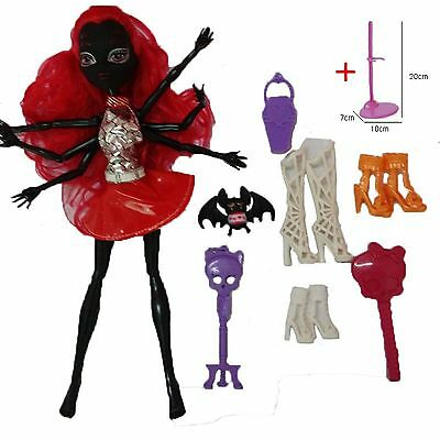 Monster High Wydowna Spider Doll Fashion 28CM Black Spider Monsters Dolls Mattel