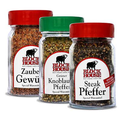Block House Zaubergewürz Steak Pfeffer Grüner Knoblauchpfeffer im Gewürz Set VIP