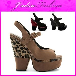 NEW-LADIES-THICK-HIGH-HEEL-WEDGE-LEOPARD-PLATFORM-SUMMER-SANDALS-SIZES-UK-3-8