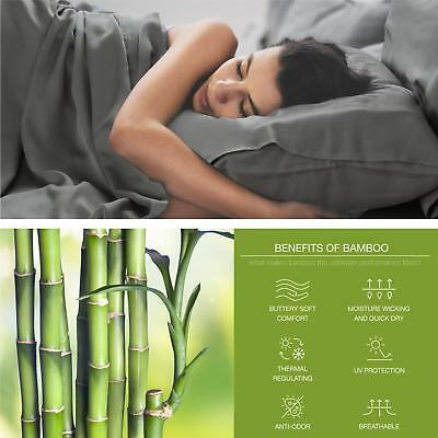 Bedsure Cooling Bamboo Pillowcases Set of 2 Bedding Gift