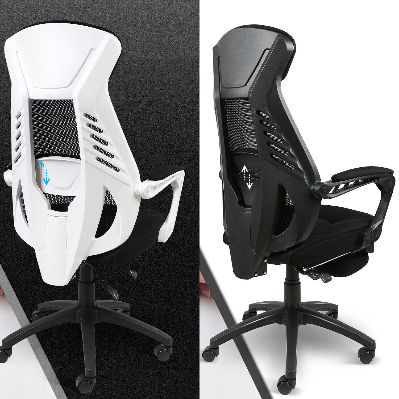 Bürostuhl Schreibtischstuhl Drehstuhl Chefsessel Fußstütze Gaming Stuhl 150Kg