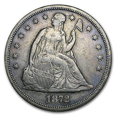1840-1873 Liberty Seated Dollar Coin - Extra Fine