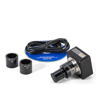 Swiftcam 5mp Hd Digital Camera Usb2.0 Bino Trinocular Microscopecalibration Kit