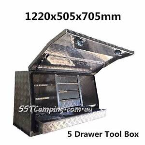 ALUMINIUM Drawers 1220x505x705mm Side Open Toolbox Clayton Monash Area Preview