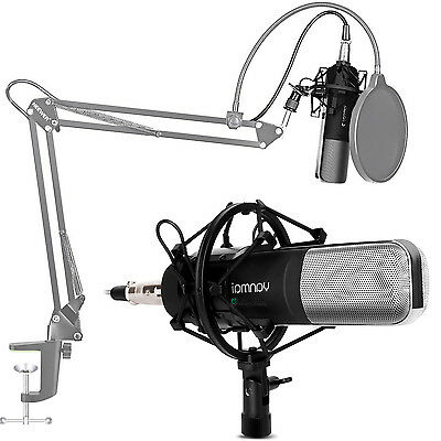 Professional Condenser Microphone Broadcast Recording + Shock Mount Computer PC
