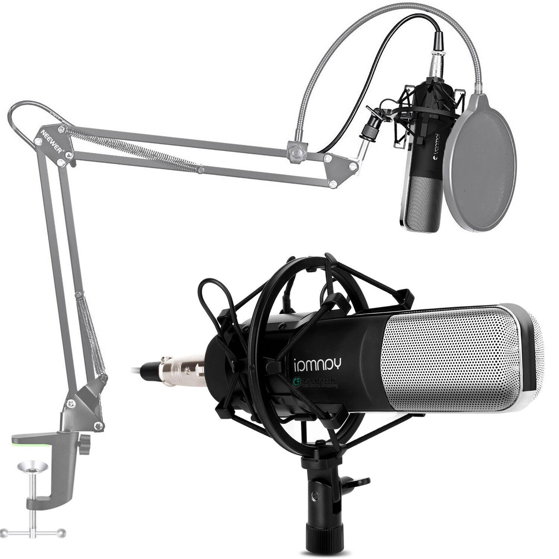 Professional Condenser Microphone Broadcast Recording + Shoc
