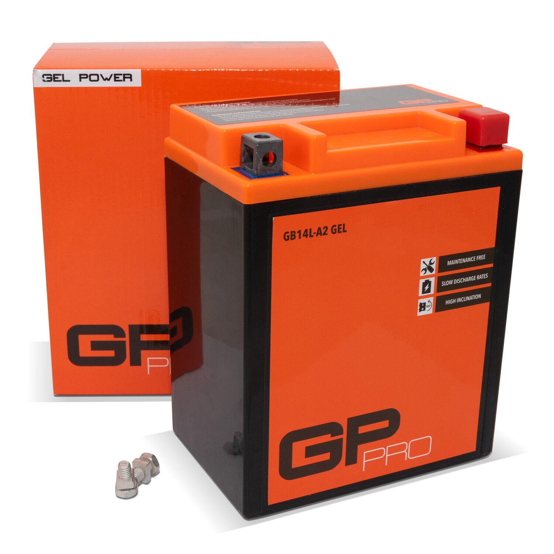 GP-PRO Batterie 12V 14Ah Gel CB14L-A2 GB14L-A2 ähnl. YB14L-A2 Motorradbatterie
