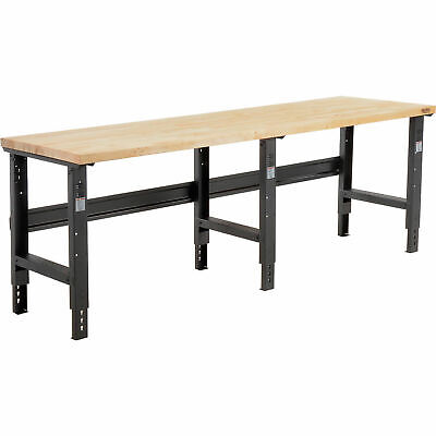 Adjustable Height Workbench C-channel Leg 96w X 36d 1-34 Maple Top Square