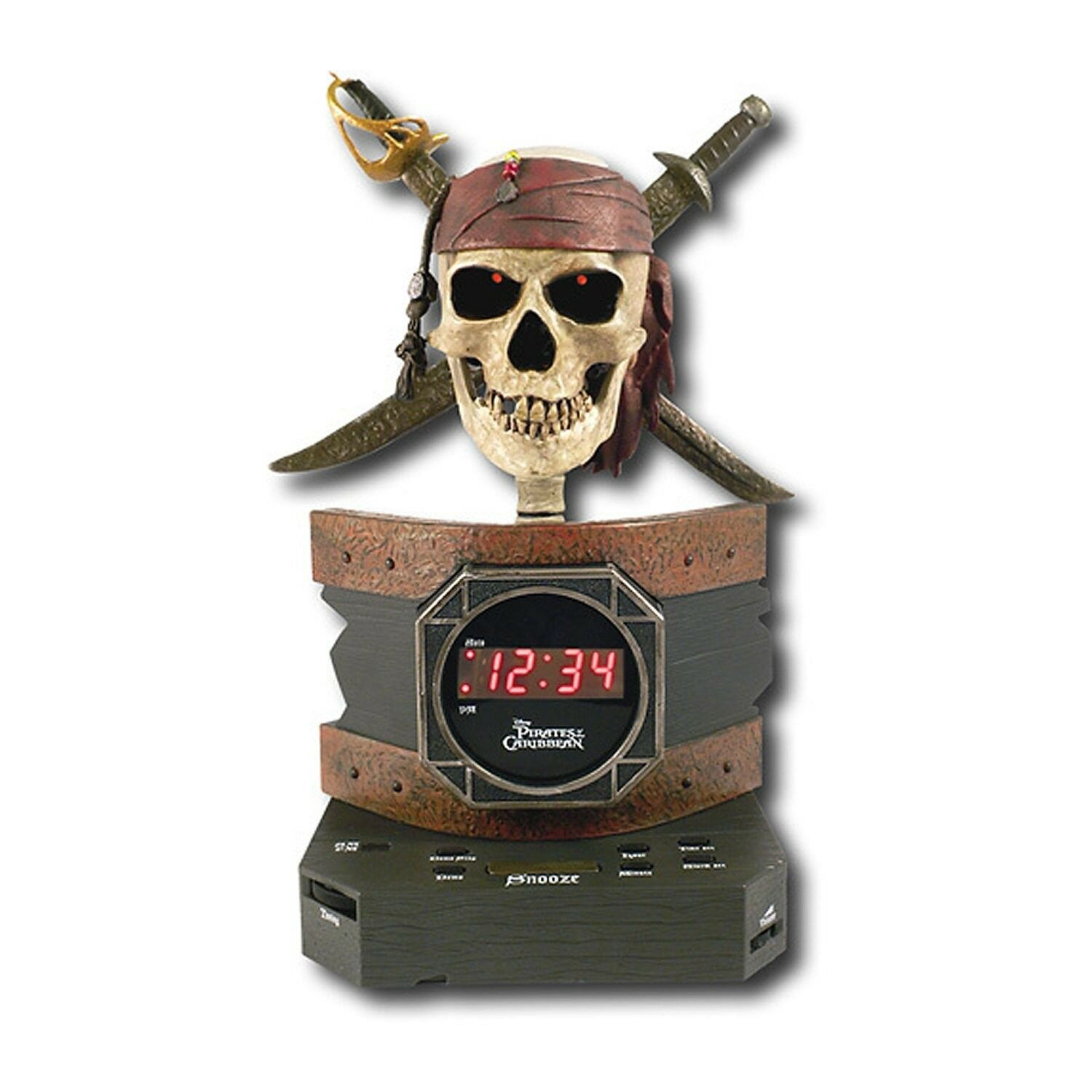 Disney PC300ACR Pirates of the Caribbean Alarm Clock Radio NEW FREE SHIPPING