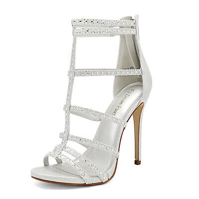 DREAM PAIRS Women High Stilettos Heel Sandals Rhinestone Dre