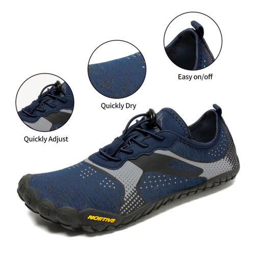 NORTIV8 Mens Water Shoes Quick Dry Barefoot Swim Diving Surf Aqua Sport Vacation 1