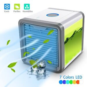 Caynel Portable Mini Desktop Air Conditioner USB Small Fan Cooling Cooler