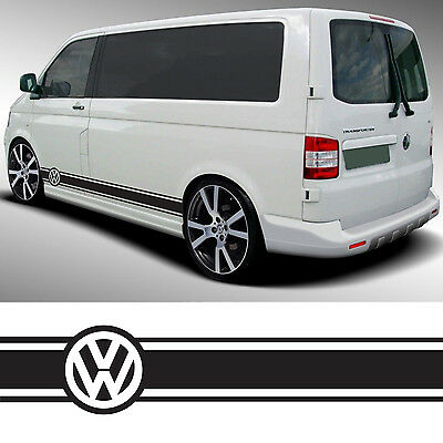 VW Transporter Camper Van Caravelle Stripes Graphics Decals Stickers T4 T5 Caddy usato  Spedire a Italy