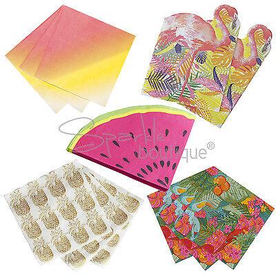 TROPICAL PAPER NAPKINS - Hawaiian Summer Garden Party / BBQ / Luau / - Tropical Paper Garden