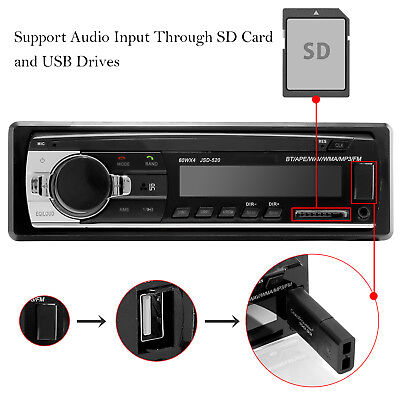 Bluetooth Car Stereo Audio In-Dash FM Aux Input Receiver SD USB MP3 Radio Player Car Audio