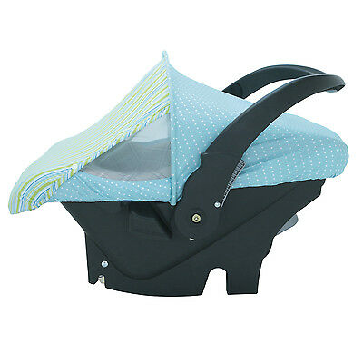 Infant Car Seat Carrier Cover or Sun & Bug Cover for Baby Turquoise