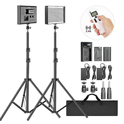 2-Pack 2.4G LED Video Lighting Kit: Bi-Color CRI 95+ 280 LED Panel