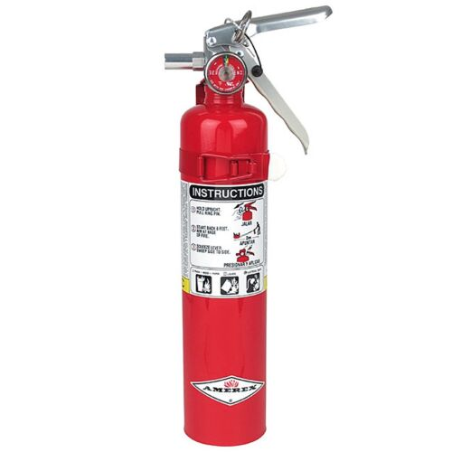 Amerex B417, 2.5lb ABC Dry Chemical Class A B C Fire Extinguisher, with Wall ...