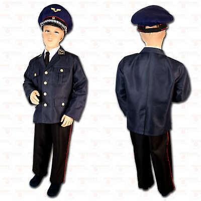 Bundesbahn Uniform Kostüm Kinder Eisenbahnerkostüm blaue Mütze - Blaue Mütze Kostüm