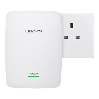 Linksys N300 Universal Wi Fi Range Extender Wireless Signal Booster Easy Setup