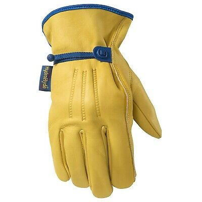 Mens Hydrahyde Leather Work Gloves Water-resistant Medium Wells Lamont 11...