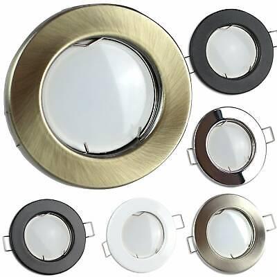 LED Einbaustrahler GU10 230 Volt 1,2-9W schwenkbar rund flach Spot Leuchte