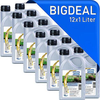 (3,78€/L) 12x 1 Liter SAE 30 Einbereich Motoröl für Rasenmäher ACEA E2 MAN