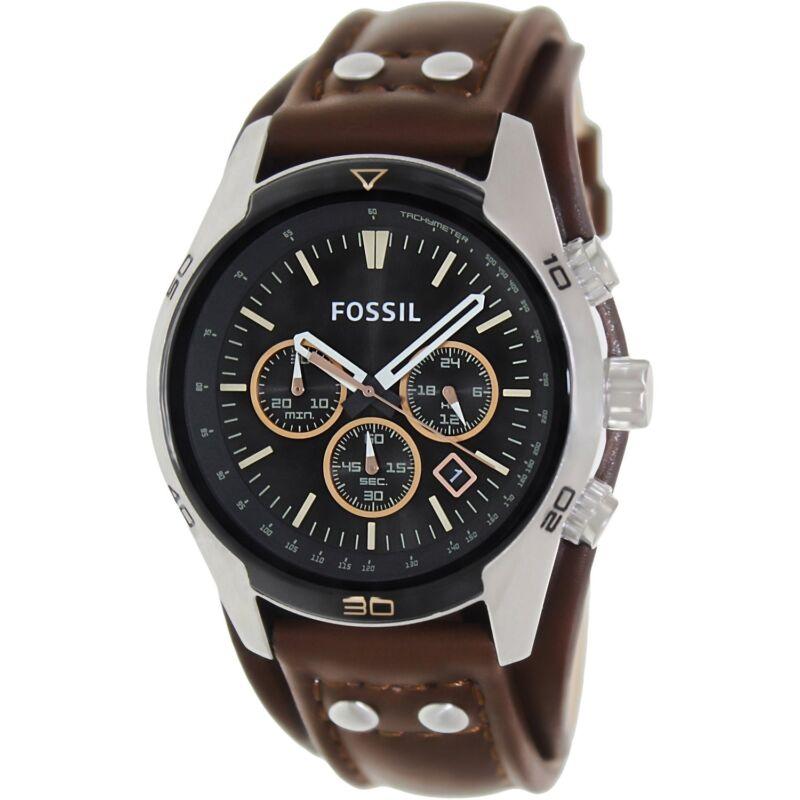Fossil Men's Coachman CH2891 Brown Leather Quartz Fashion Watch