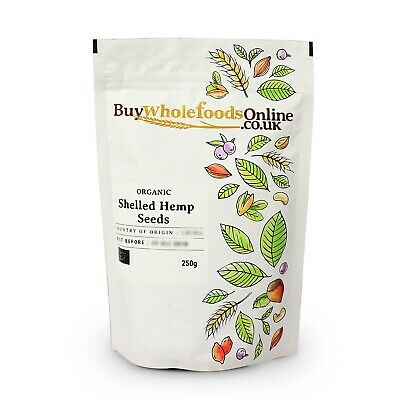 Organic Shelled Hemp Seeds 250g   Buy Whole Foods Online   Free UK Mainland P&P