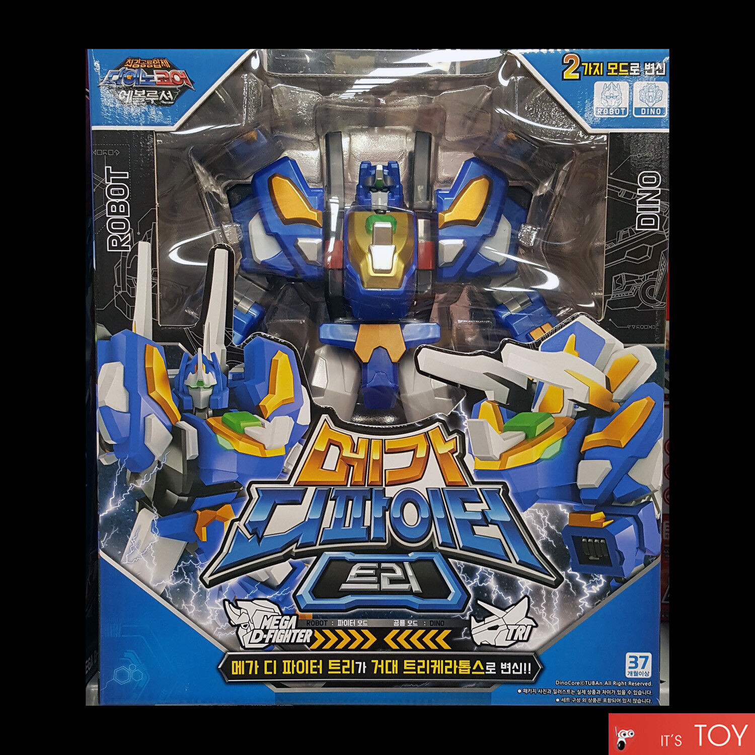 Dino Core Season 4 Evolution Mega D-Fighter TRI Transforming Robot Toy