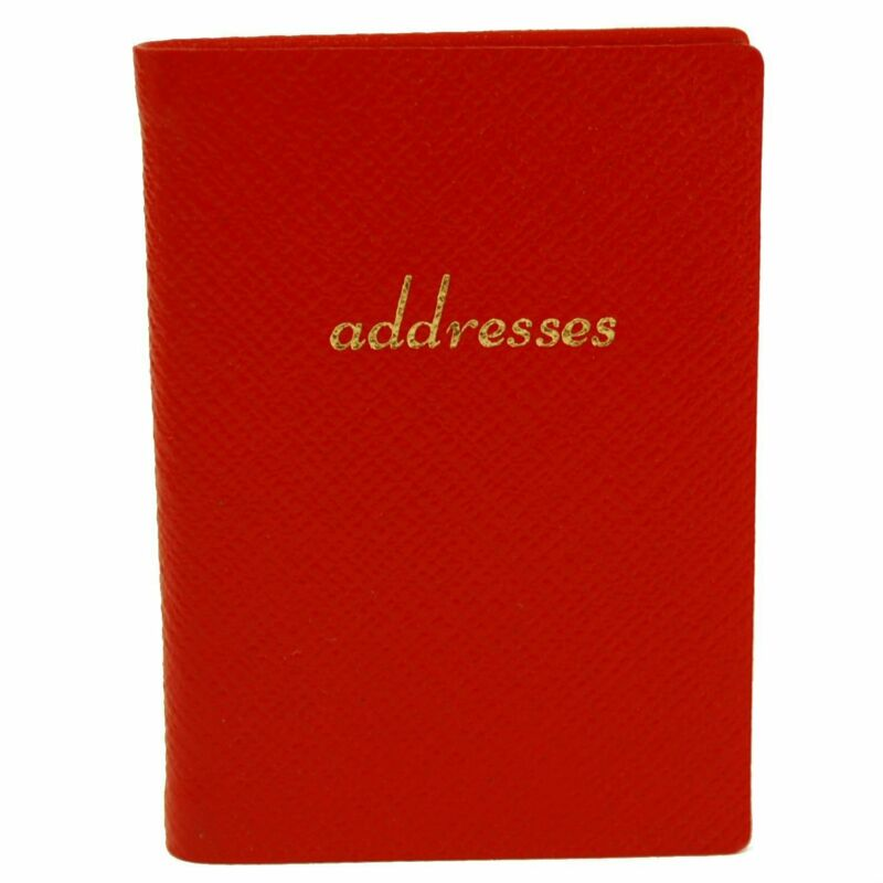 Leather Pocket Address Book, 3 by 2.5 inches, Charing Cross, multiple colors