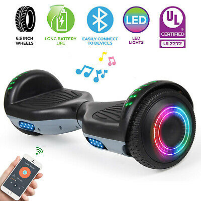 Bluetooth Hoverboard Electric Self Balancing Scooter not Bag Black+Gray UL2272