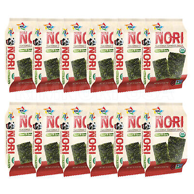 Organic Seasoned Roasted Seaweed Snacks 12 PK Korean B.B.Q.  Kim Nori